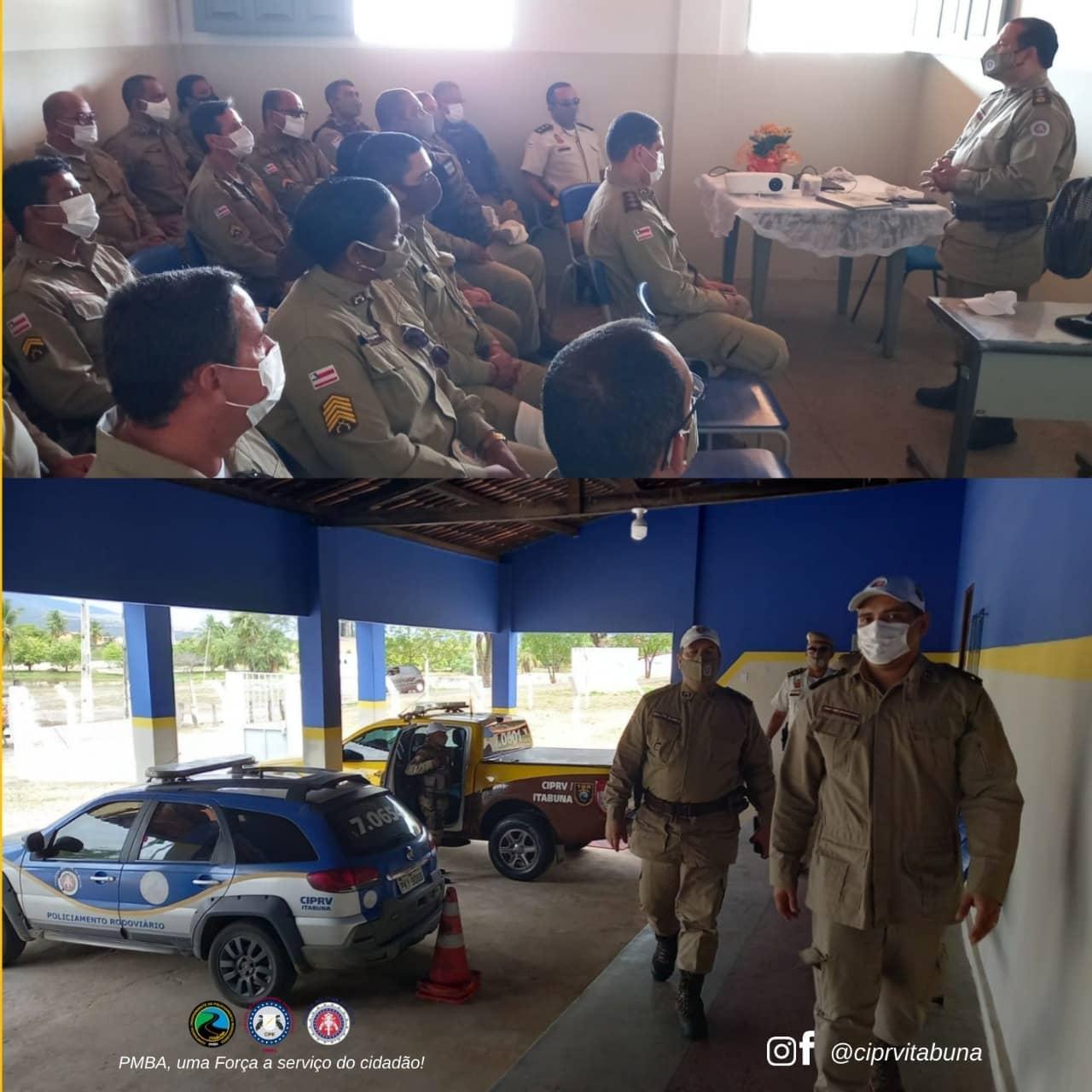 Comandante da Polícia Rodoviária Militar visitou pelotão em Jequié