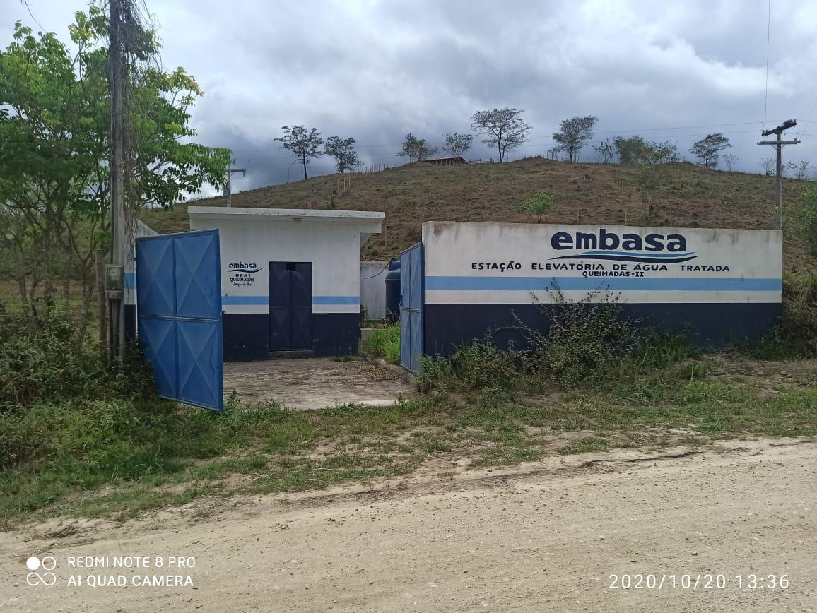 Vândalos arrombaram a estação que leva água para Queimadas