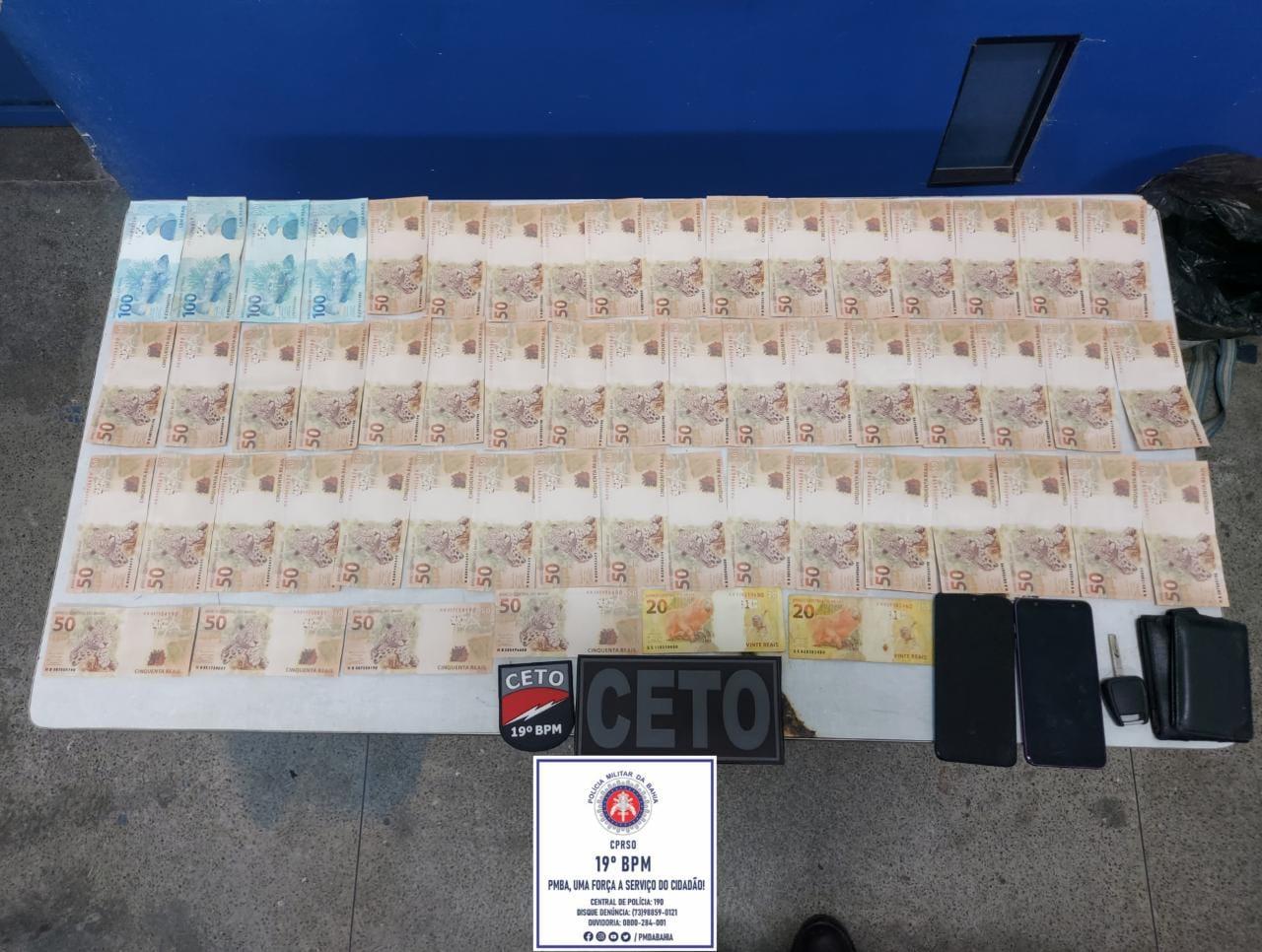 Três homens foram detidos com uma grande quantidade de dinheiro falso em Jequié