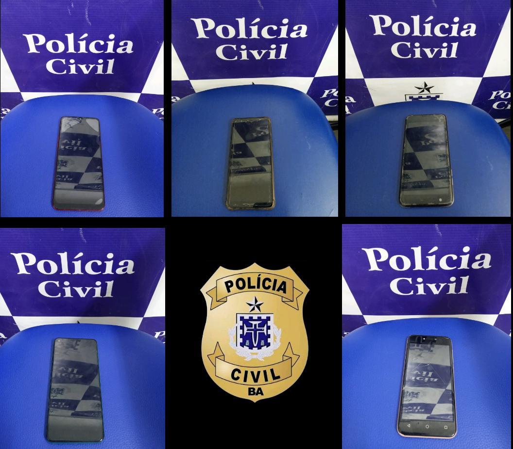 Polícia Civil recupera 5 celulares roubados em Jequié