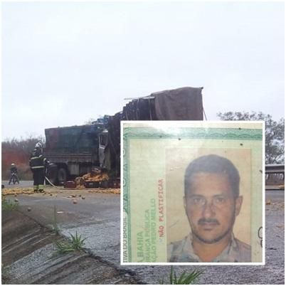 Identificado motorista morto em acidente na ladeira de Pé de Serra