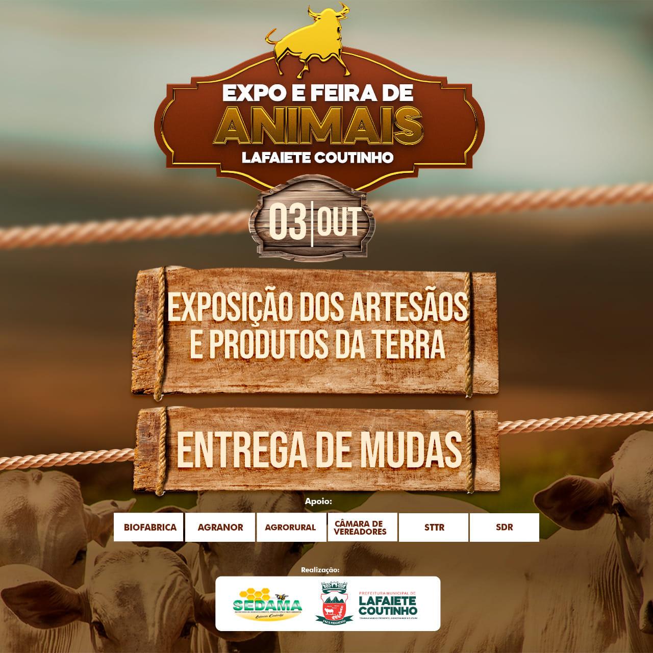 Está chegando mais um Expo e Feira de Animais em Lafaiete Coutinho