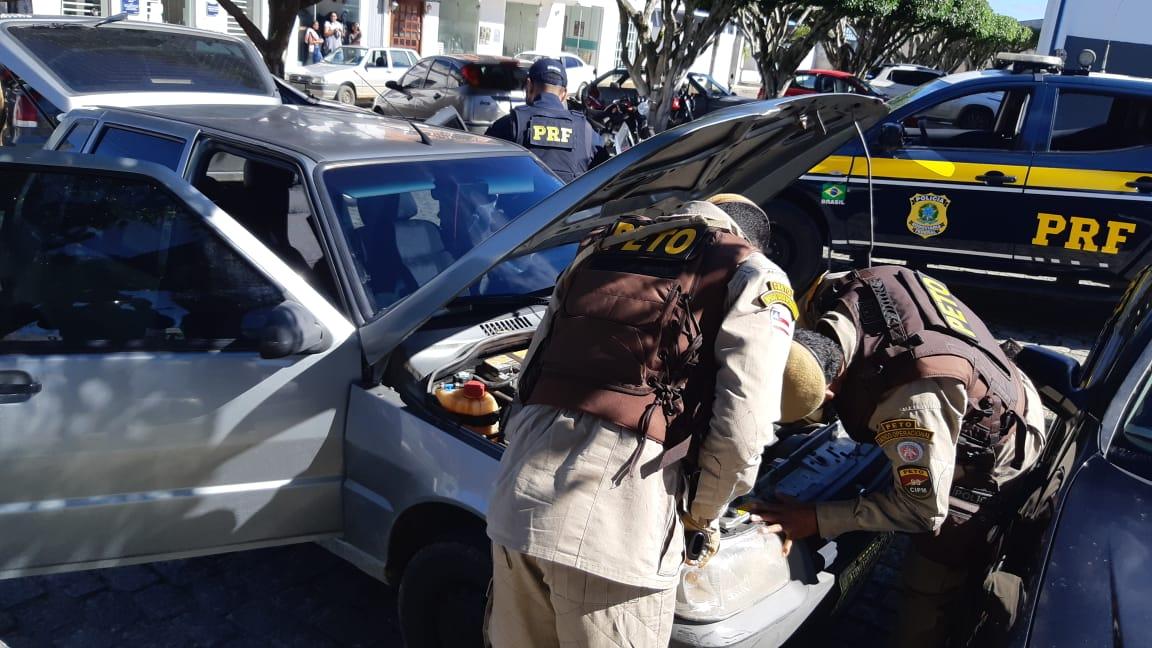 Em Maracás (BA), PRF e PMBA deflagram operação de combate a fraudes veiculares e identificam 05 veículos irregulares