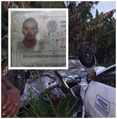 Embasa se pronuncia sobre acidente envolvendo funcionário e a morte de duas pessoas na BR 330