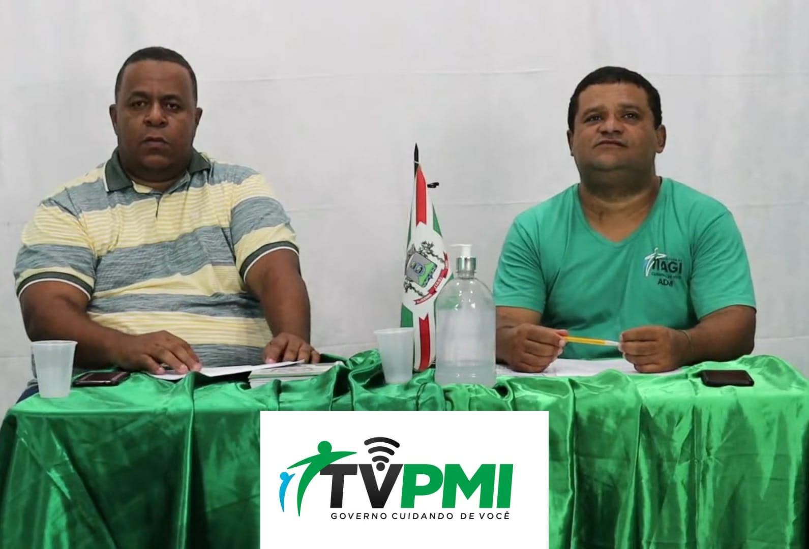 ITAGI: PREFEITURA LEVA AO AR O PRIMEIRO PROGRAMA DA  TV PMI.