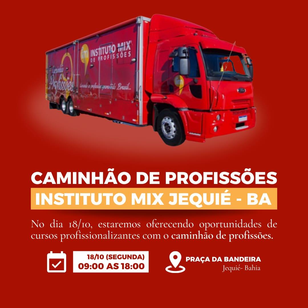 O SineBahia Móvel e o Caminhão das Profissões chegam à Jequié no dia 18/10/2021, com oportunidades de qualificação e atendimentos nas áreas da beleza.