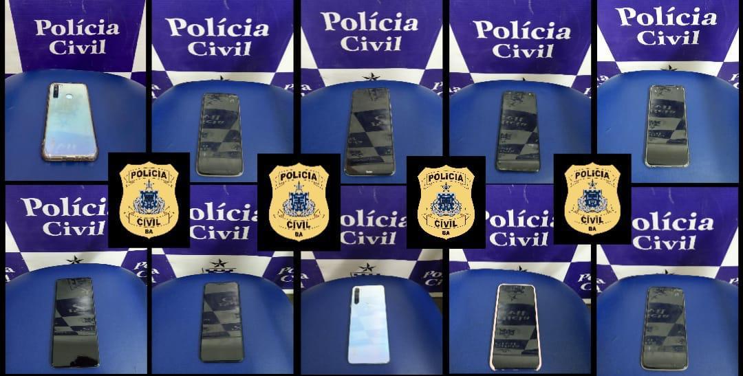 Polícia Civil recupera 10 celulares roubados em Jequié