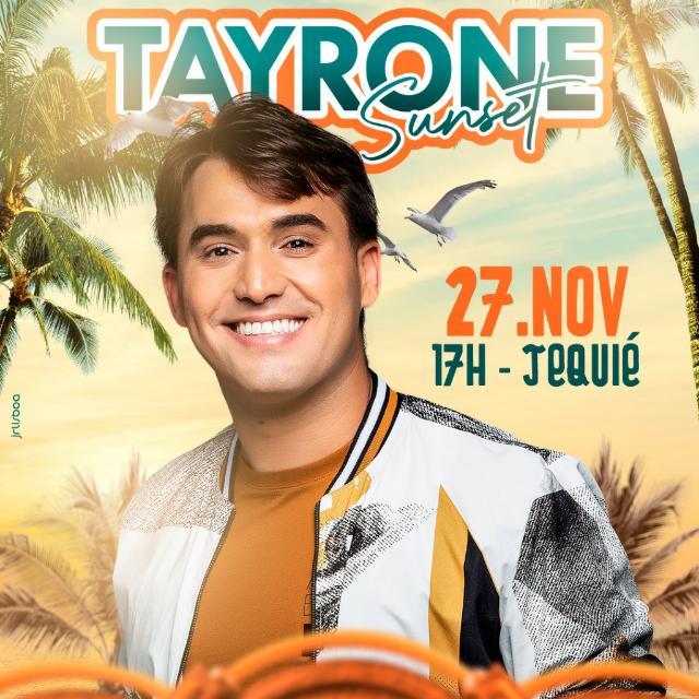 Ingressos para o show de Tayrone começam a serem vendidos nesta segunda-feira