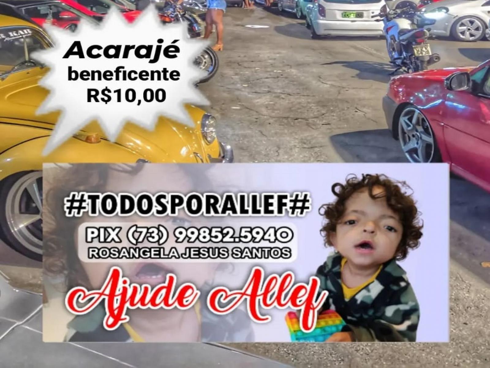 Caso Allef - evento no Alto da Prefeitura vai arrecadar dinheiro com vendas de acarajé
