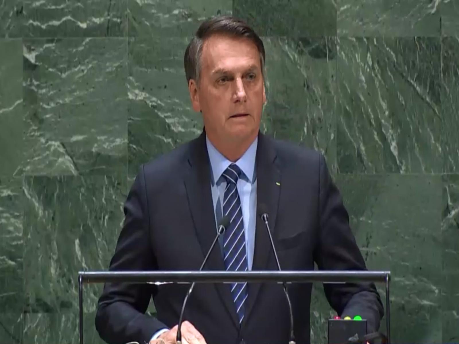 Brasil é vítima de campanha de desinformação sobre Amazônia e Pantanal, diz Bolsonaro na ONU