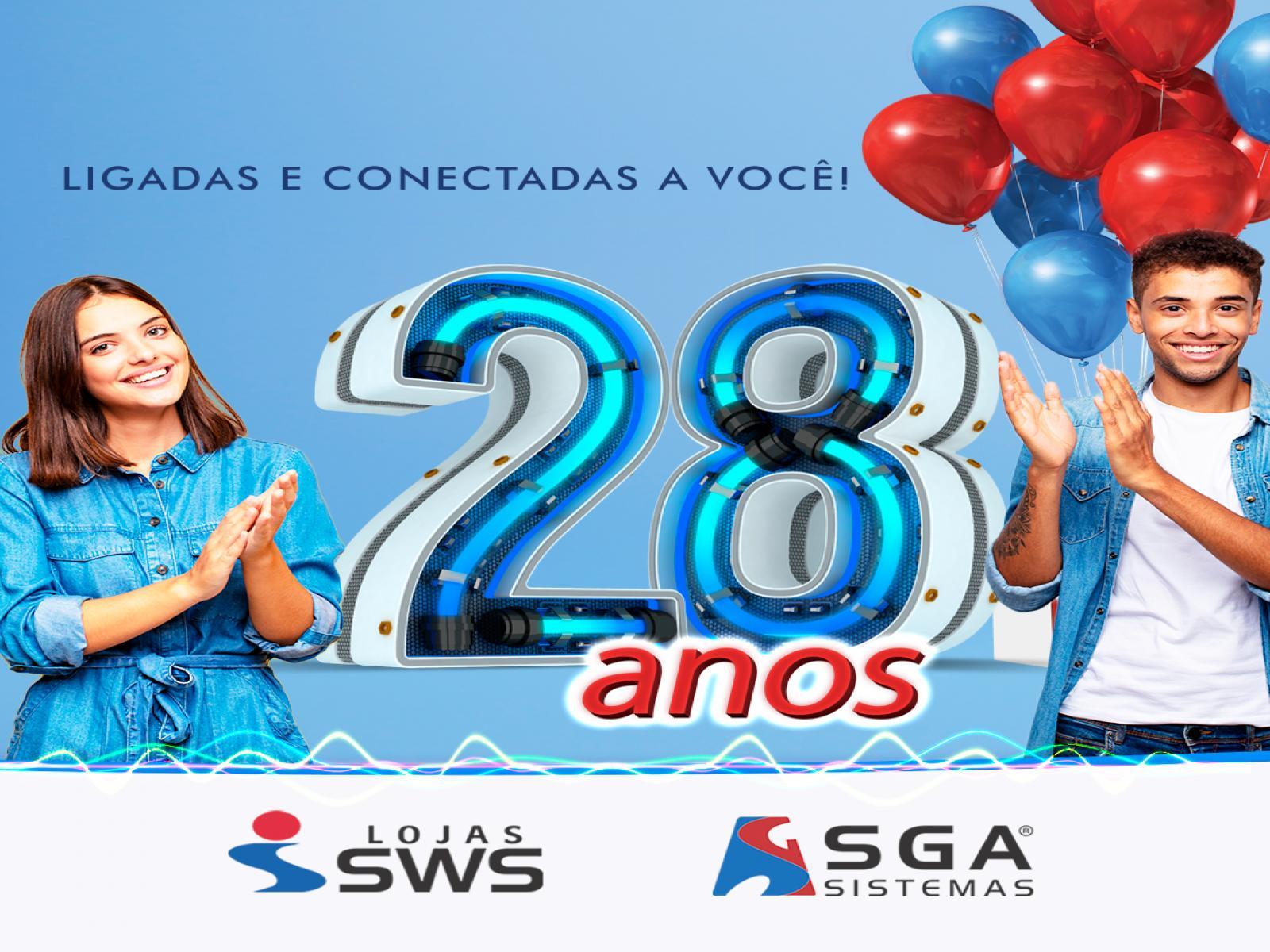 Lojas SWS e SGA Sistemas: 28 anos de avanços em gestão empresarial e evolução tecnológica
