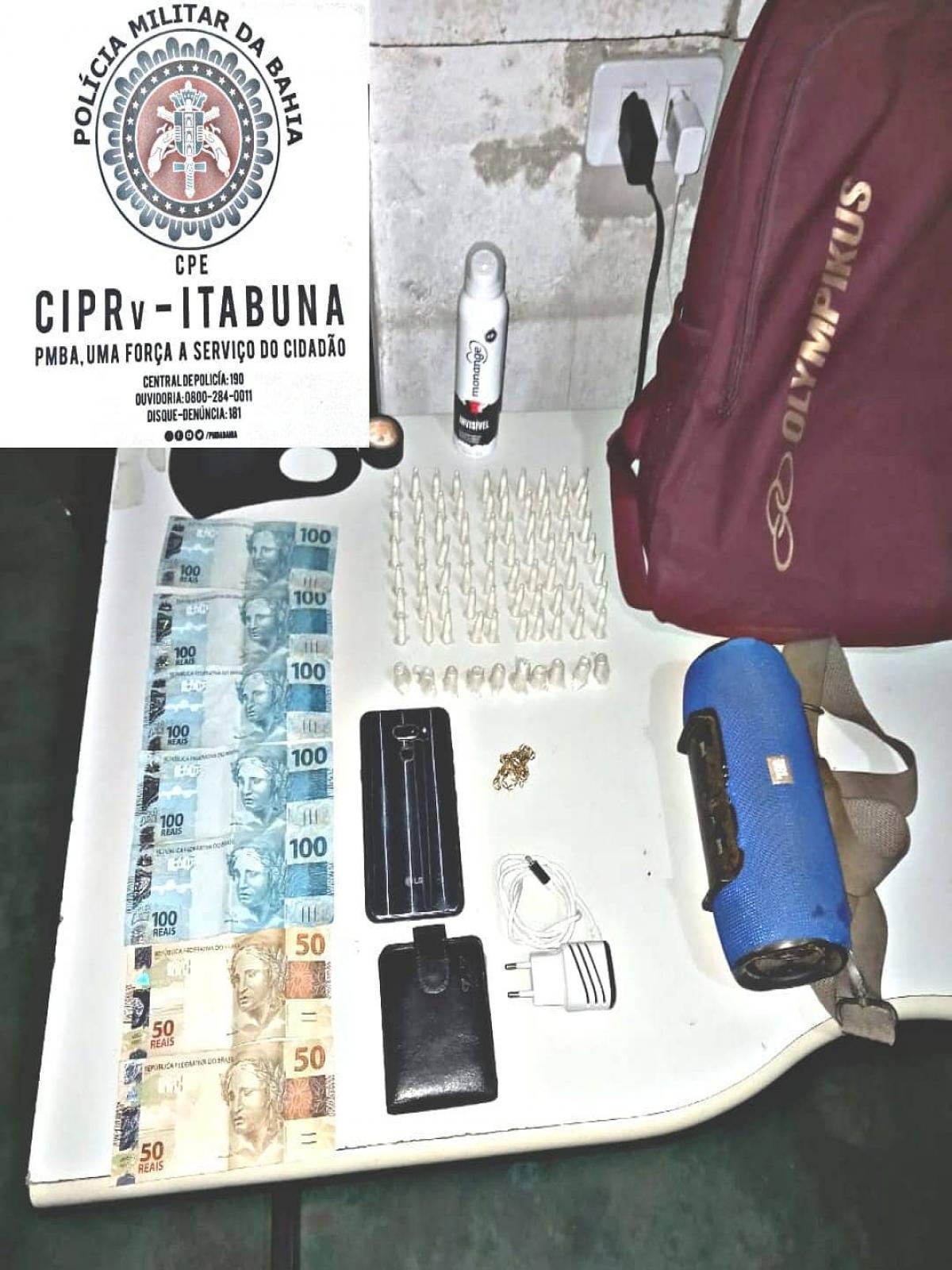 Trancoso: motociclista é flagrado com drogas e dinheiro